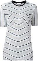 J.W.Anderson striped T-shirt - women - Viscose - XS