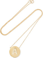 Jennifer Meyer Letter 18-karat Gold Diamond Necklace - K