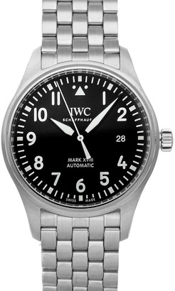 IWC Black Stainless Steel Pilot's Watch Mark XVIII IW3270-15 Men's Wristwatch 40 MM