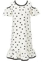 Kate Spade Big Girls 7-14 Cold-Shoulder Dotted Dress