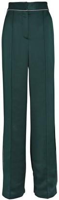 Veronica Beard Edia Satin Wide-Leg Trousers
