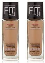 Maybelline Fit Me Liquid SPF Foundation Classic Ivory (2-Pack) by