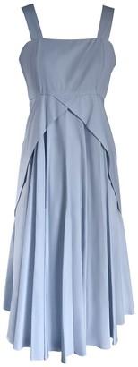 Onelady Cotton Midi Dress Light Blue - Delia