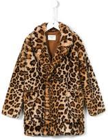 Les Coyotes De Paris leopard print coat