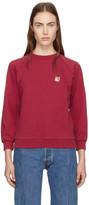 MAISON KITSUNÉ Red Fox Head Patch Sweatshirt