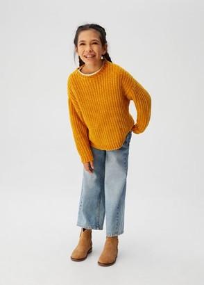MANGO Knit sweater mustard - 5 - Kids