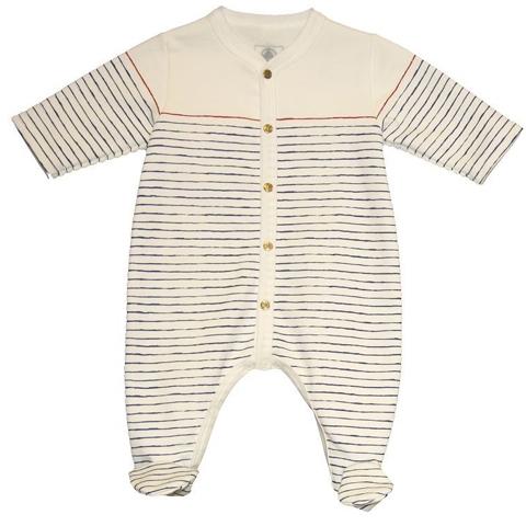Petit Bateau Baby Boy's Cadran Footie - White