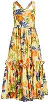 Cara Julia Print Apron Fit & Flare Dress