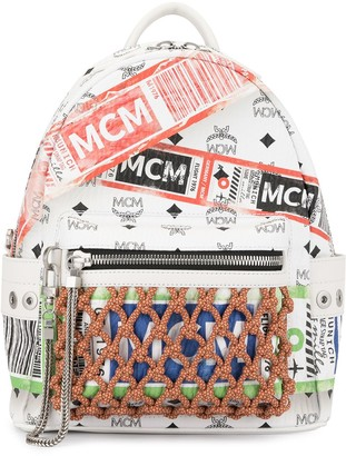 MCM Stark flight print backpack