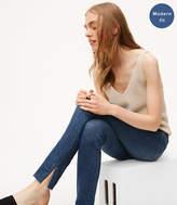 LOFT Petite Modern Slit Fresh Cut Skinny Jeans in Vivid Dark Indigo Wash