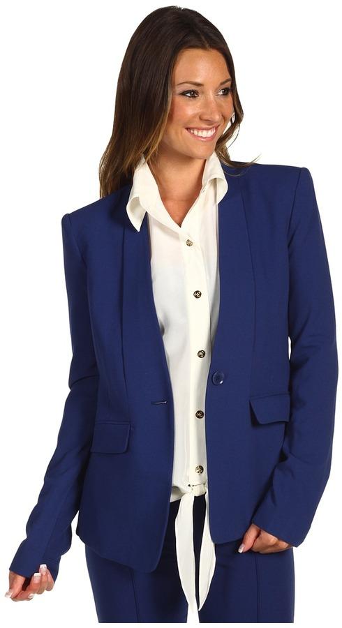 BCBGMAXAZRIA Chaya Novelty Blazer (Blue Depths) - Apparel