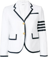 Thom Browne Tennis Collection pique striped sport coat - women - Cotton/Cupro - 40