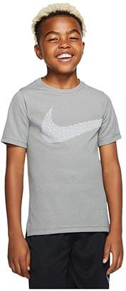 Nike Kids Statement Performance Short Sleeve Top (Little Kids/Big Kids) (Black/White) Boy's Clothing
