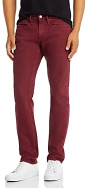 Frame L'Homme Slim Fit Jeans in Burgundy