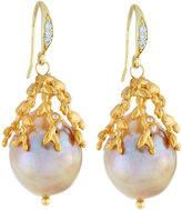 Indulgems Large Baroque Freshwater Pearl Drop Earrings