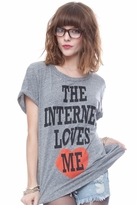 Local Celebrity Internet Love Schiffer Tee in Heather Grey