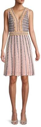 M Missoni Fringed Metallic Knit Dress