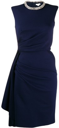Alexander McQueen Draped-Effect Pencil Dress