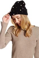 Natasha Accessories Beaded Imitation Pearl Slouch Beanie