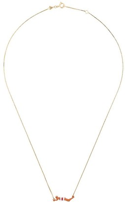 ALIITA 9kt yellow gold Nadadora Completo Rayada swimmer figure necklace