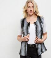 Yumi Grey Faux Fur Gilet