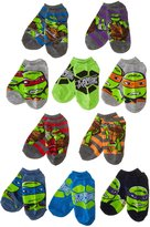 Nickelodeon Teenage Mutant Ninja Turtles Boys Socks- 10 Pairs