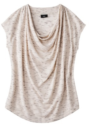 Mb Mossimo® Women's Cowl Neck Draped Tee - Assorted Colors