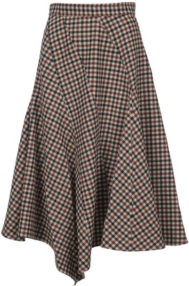 J.W.Anderson Asymmetric Checked Skirt