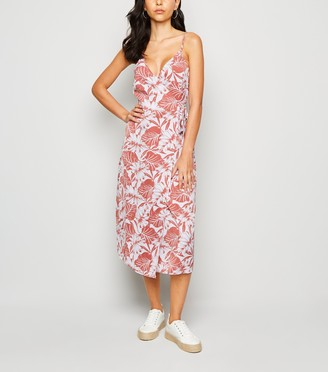 New Look Urban Bliss Tropical Print Midi Dress