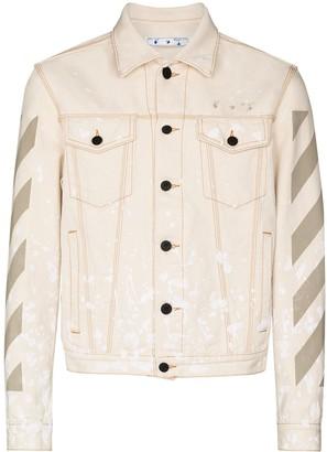 Off-White x Browns 50 paint-splatter denim jacket
