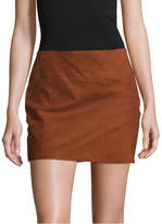 Alice + Olivia Women's Sophya Suede Mini Skirt