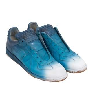 Maison Margiela Blue Leather Trainers