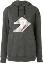 Versus logo patch hoodie - women - Cotton/Polyester - XXS