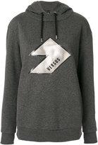 Versus logo patch hoodie