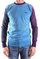 Franklin & Marshall Men's Light Blue/purple Cotton Sweater.