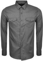 Replay Long Sleeved Shirt Grey
