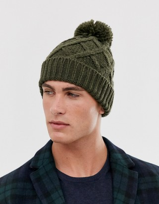 French Connection bobble beanie-Green