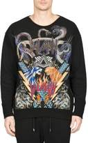 Balmain Graphic Cotton Sweatshirt