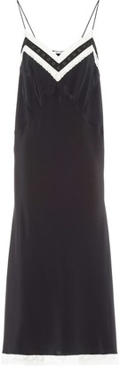 Miu Miu Lace-Panelled Slip Dress