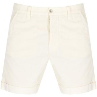 Nudie Jeans Luke Cord Shorts Cream