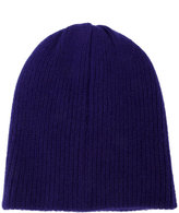 The Elder Statesman Deep Blue Watchman ribbed beanie