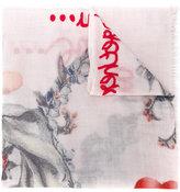Faliero Sarti floral raw edge scarf