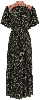 Nk Silk Printed Midi Skirt