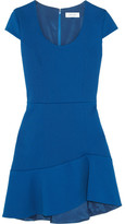 Carven Stretch-twill Mini Dress - Royal blue