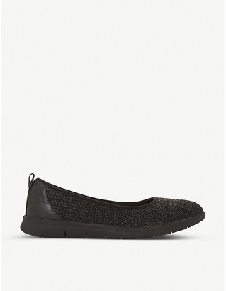 Dune Eliza slip-on knit trainers