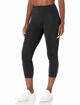 Calvin Klein Women's Misses Cropped Tight with Power Mesh Piecing
