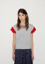 Kolor Crochet Sleeve Sweater