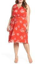 Lucky Brand Plus Size Women's Pop Floral Dress