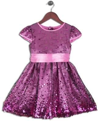 Joe Ella Sparkling Wide Sash Dress (Toddler Girls)