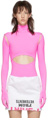 Vetements Pink Cut-Up Bodysuit
